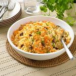 Couscous d'épeautre aux carottes et raisins secs